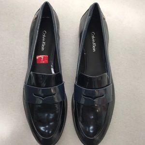 Calvin Klein Celia Metallic Box flat loafers
